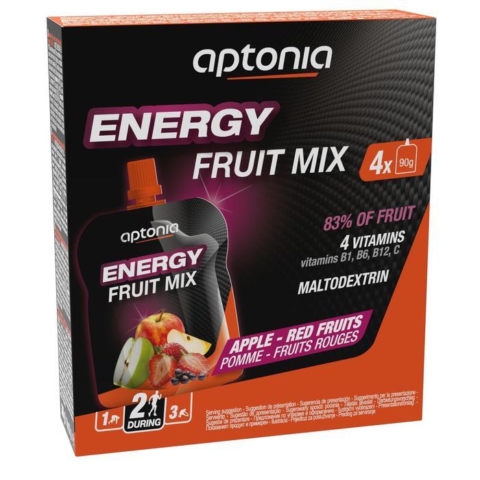 Spécialité de fruits énergétique pomme et fruits rouges 4 x 90g