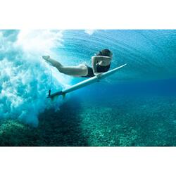 Badpak voor surfen Isa zwart gekruiste bandjes