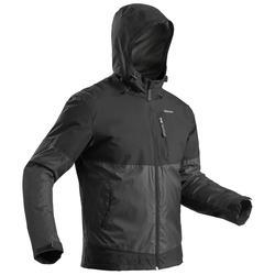 男款超保暖雪地健行外套SH100-黑色