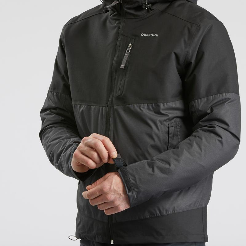 Men's x warm snow hiking Jacket SH100 - black