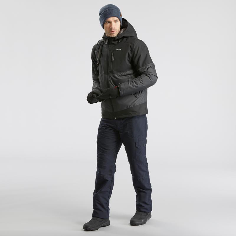 Men's Snow Hiking Jacket SH100 (X-warm) - Black