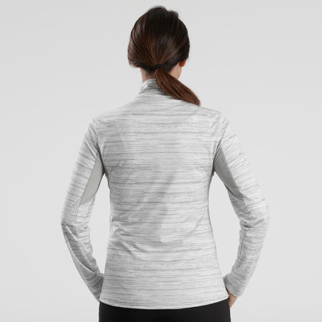 Women's SH500 Warm White Long-Sleeved Snow Hiking T-Shirt