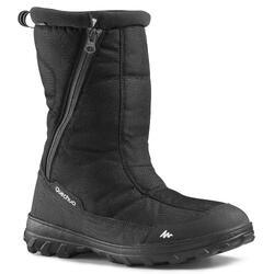 男款超保暖雪地健行靴SH100-黑色。