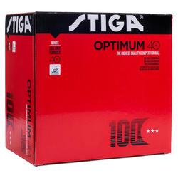 100 plastic ballen Polyball Stiga Optimum 3***