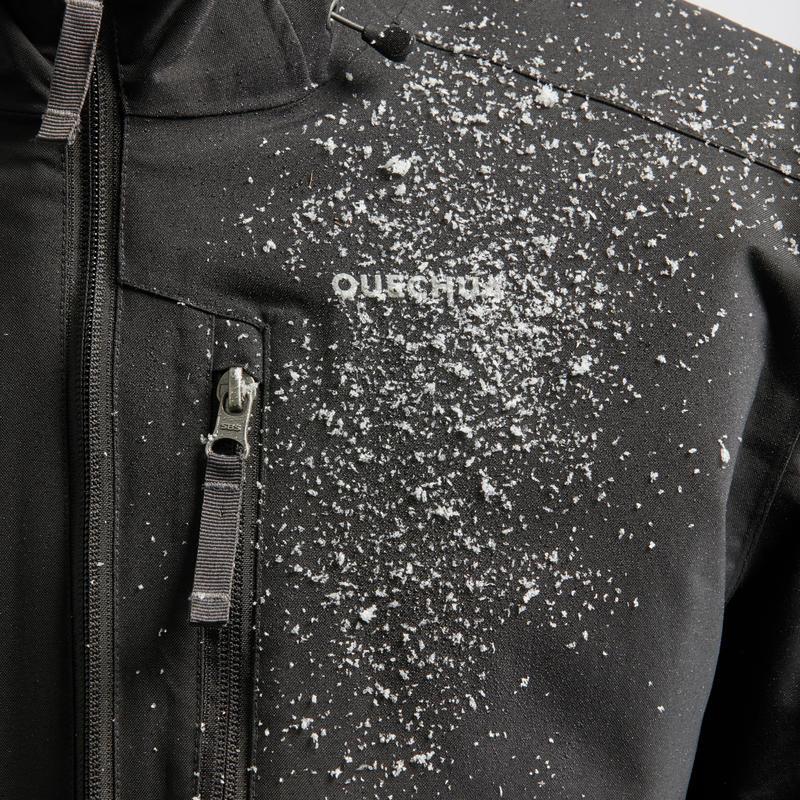 Chaqueta de senderismo nieve hombre SH100 x-warm negra