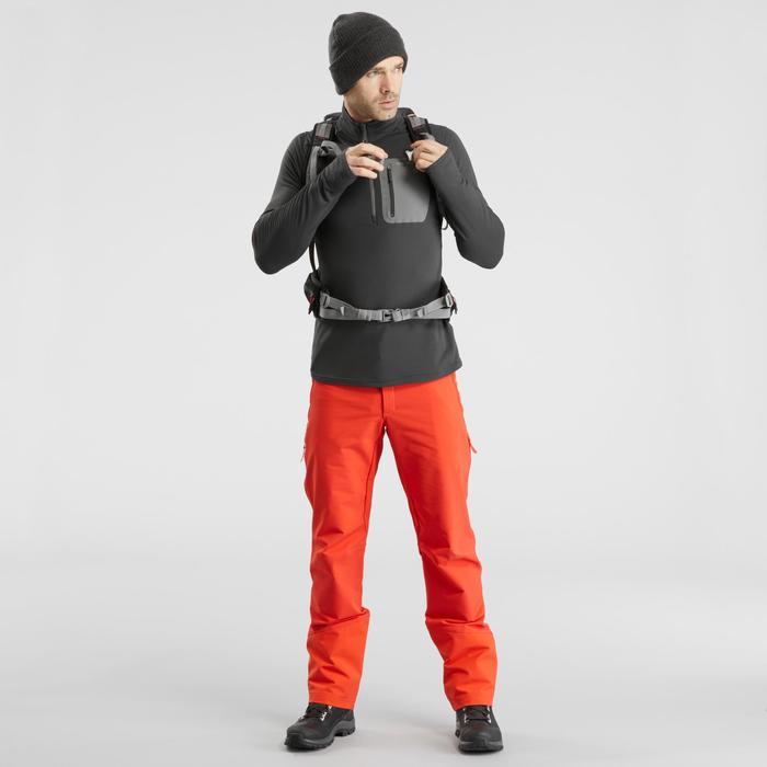 Wandelshirt met lange mouwen voor de sneeuw SH500 Warm zwart