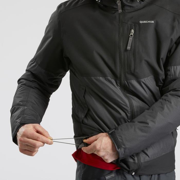Winterjacke Winterwandern SH100 Extra-Warm Herren schwarz