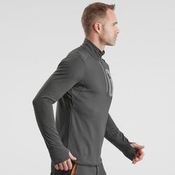 T-shirt de randonnée neige manches longues homme SH500 chaud noir.