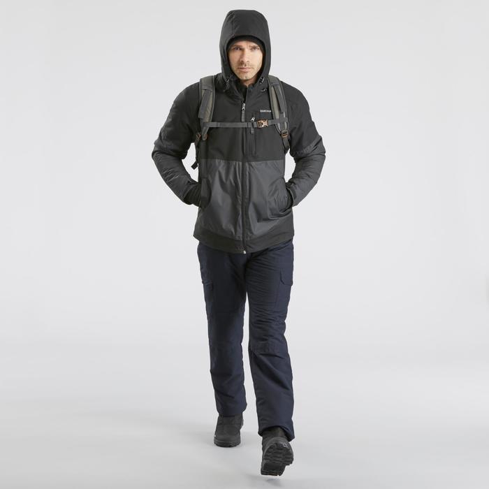 Waterdichte wandeljas voor heren SH100 X-Warm zwart