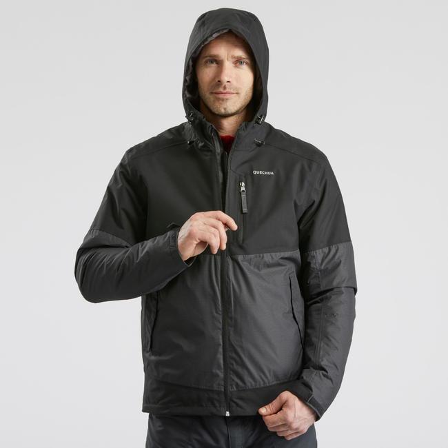 Men's Snow Hiking Jacket SH100 X-Warm (Waterproof) - black