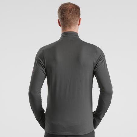 Men's snow hiking long sleeve SH500 warm t-shirt - Black