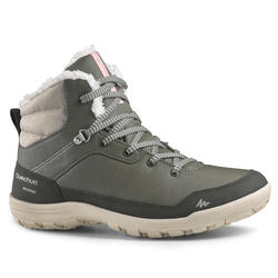 SH100 Warm Women's Hiking Shoes - Khaki