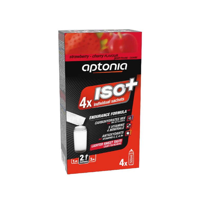 DOPLNĚNÍ TEKUTIN PŘED SPORTEM Triatlon - NÁPOJ ISO+ JAHODA/TŘEŠEŇ 4×38g APTONIA - Výživa a hydratace