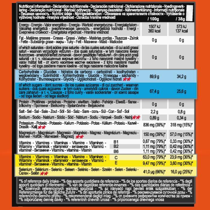 Boisson isotonique poudre ISO+ fraise cerise 4 x 38g