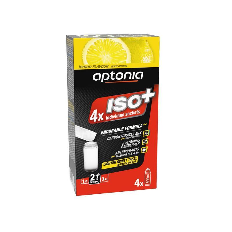 Boisson isotonique poudre ISO+ Citron 4 x 38g