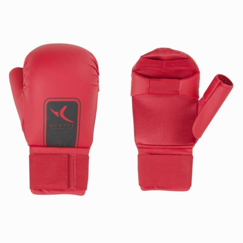 KARATE Martial Arts - Karate Mittens - Red DOMYOS - Martial Arts