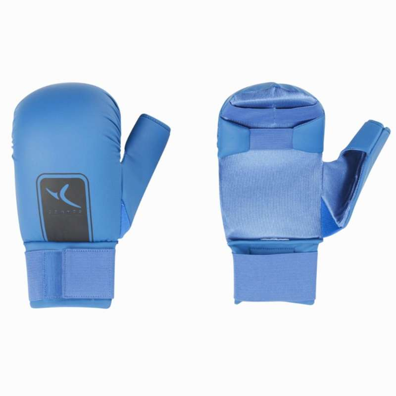 Karate Karate - Karate-Handschuhe Faust blau DOMYOS - Sportarten