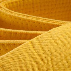 Judoband / Karateband piqué 3,10 m, geel