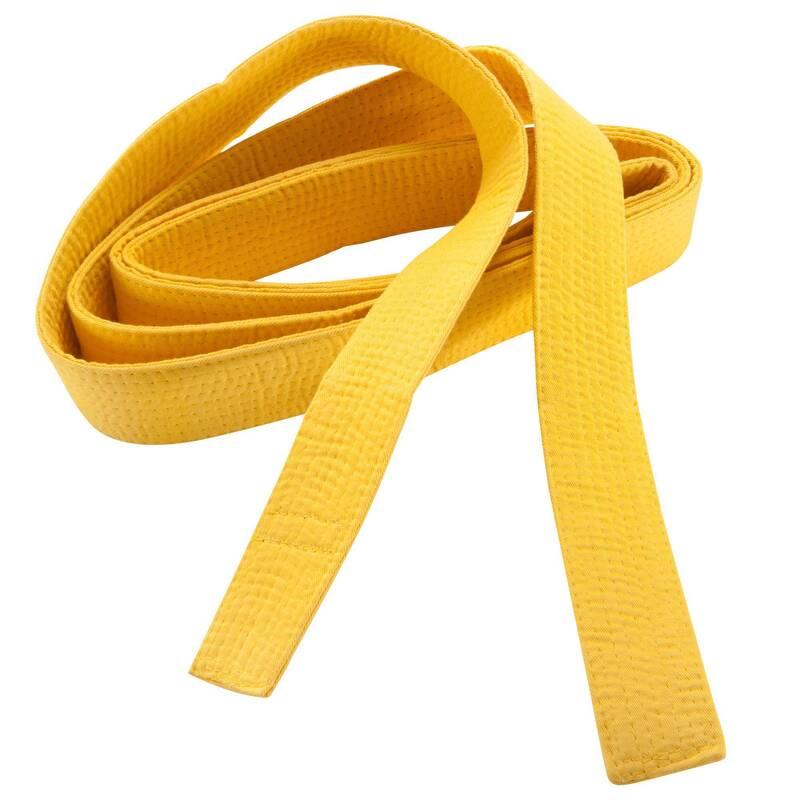 PÁSKY Taekwondo - PROŠÍVANÝ PÁSEK 3,1 M ŽLUTÝ OUTSHOCK - Taekwondo