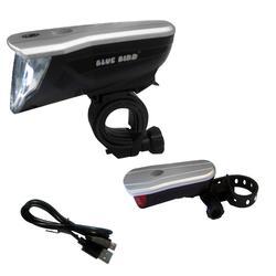 Fahrradbeleuchtung Set Front-/Rücklicht Bluebird LED 60/30/15 LUX