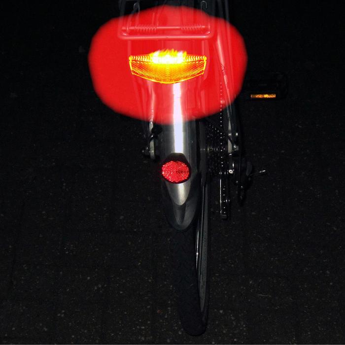 Fahrradbeleuchtung Rücklicht LED mit Z-Reflektor Gepäckträgermontage