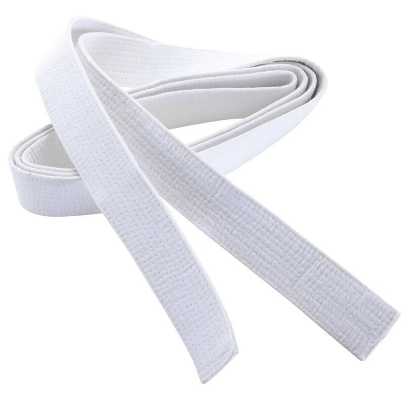 PÁSKY Taekwondo - PROŠÍVANÝ PÁSEK 2,5 M BÍLÝ OUTSHOCK - Taekwondo