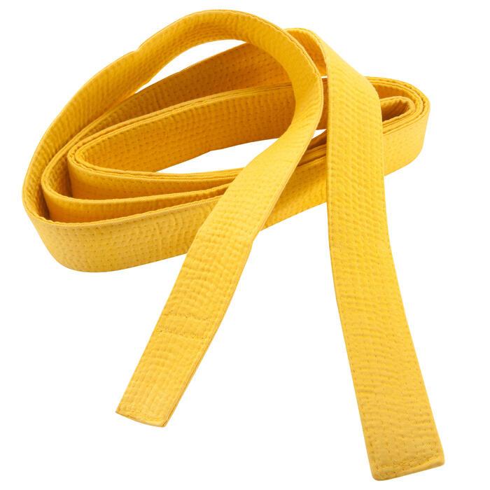 Band piqué 2,5 m geel
