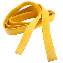 Band voor martial arts piqué 2,5 meter geel