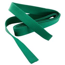 Band voor martial arts piqué 2,5 meter groen
