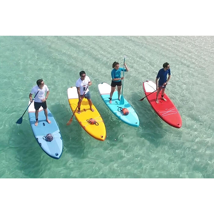PAGAIE DE STAND UP PADDLE 100 DEMONTABLE REGLABLE 170-220 CM BLEUE