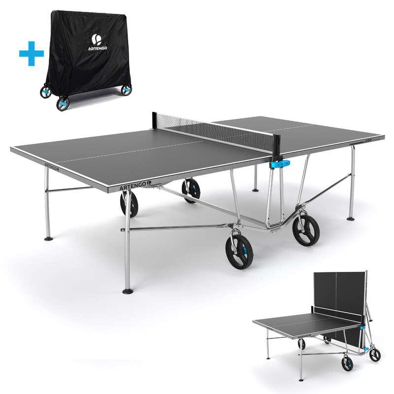 SZABADIDÖS ASZTALITENISZ-ASZTALOK Pingpong - Kültéri pingpongasztal PPT 500 PONGORI - Ütős sportok - ARTENGO