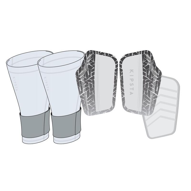 Protège-tibias de football adulte 540 TRAXIUM gris