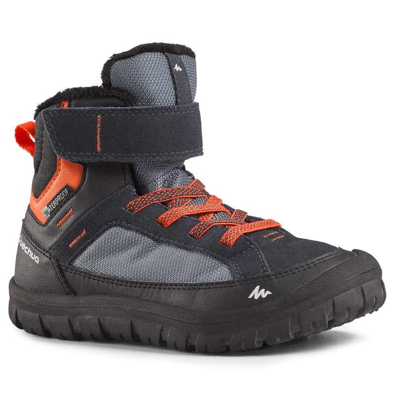 ДЕТСКИ ОБУВКИ И БОТУШИ ЗА ПРЕХОДИ В СНЯГ Обувки - ДЕТСКИ ОБУВКИ SH500 WARM, СИНИ QUECHUA - Детски обувки