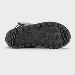 Chaussures chaudes de randonnée neige enfant SH500 warm scratch mid bleu clair