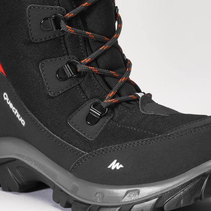 Botas cálidas de nieve niños talla 30-38 impermeables SH500 negro
