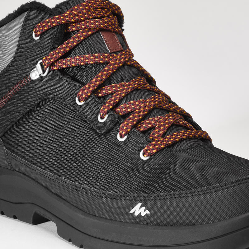 Men's Warm Waterproof Snow Walking Shoes - SH100 WARM - Mid.