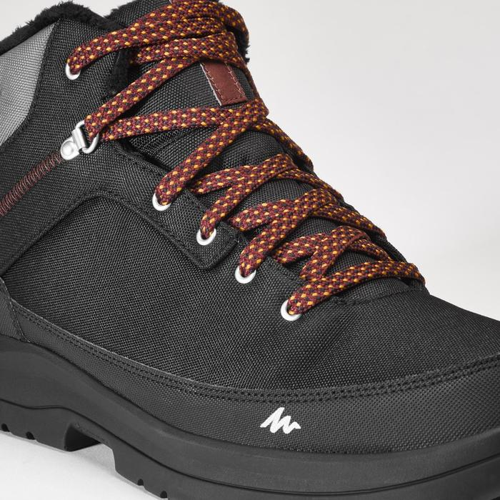 Men's snow hiking mid boots SH100 warm - Black.