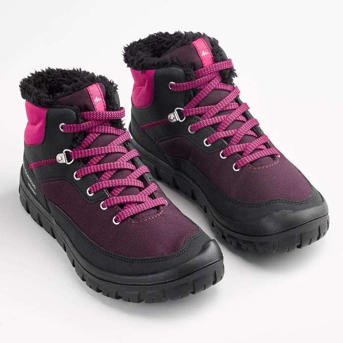 Winterschuhe SH100 halbhoch warm Schnürung Kinder Gr. 33-38 rosa