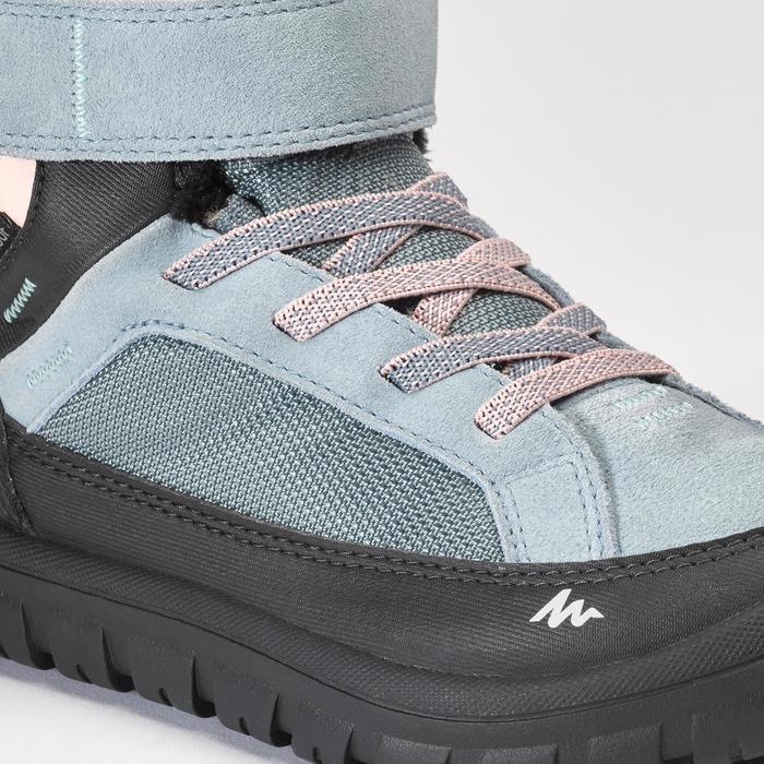 Kids' Snow Hiking Warm Shoes SH500 Warm Rip-Tab Mid - Light Blue