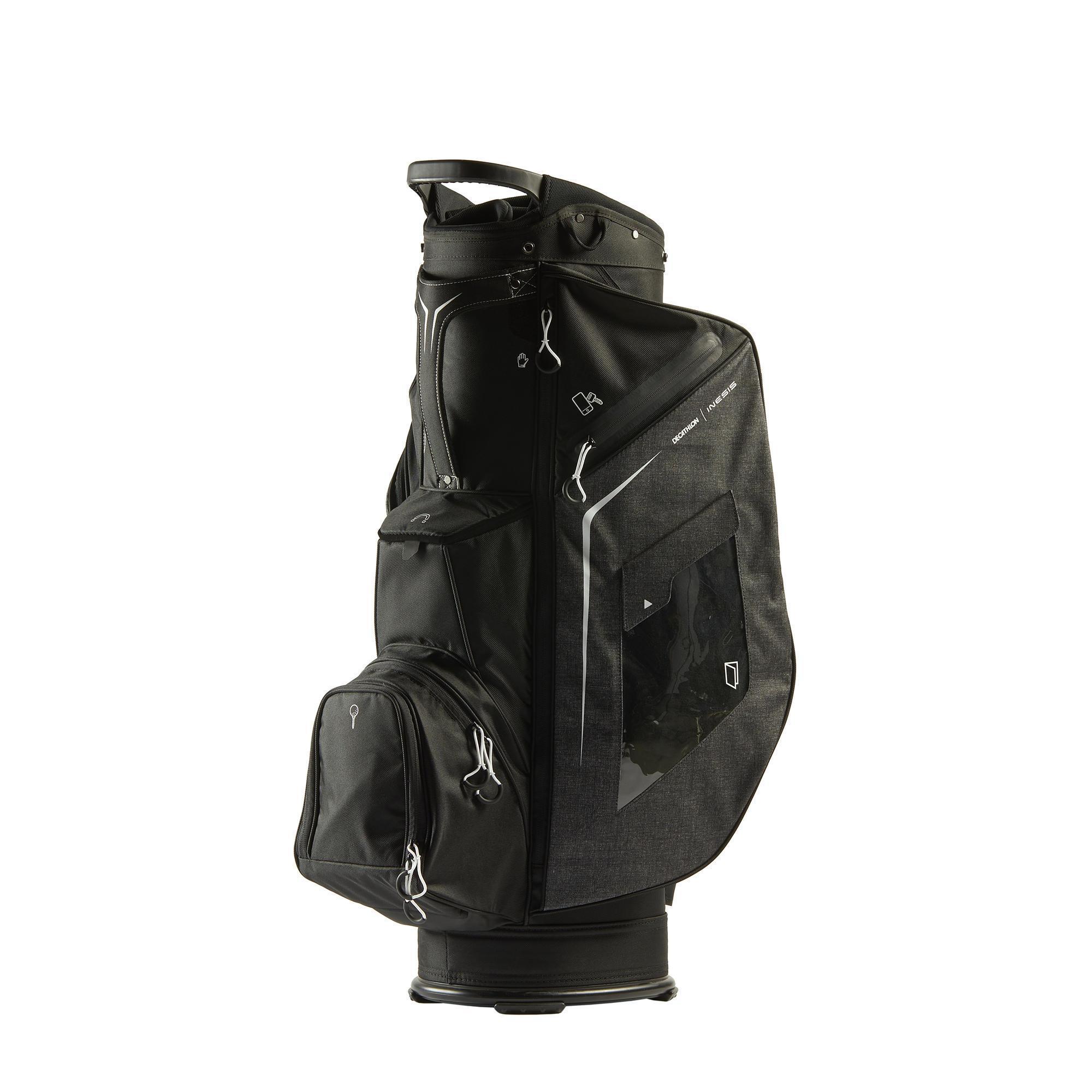 Inesis Cartbag golf zwart kopen