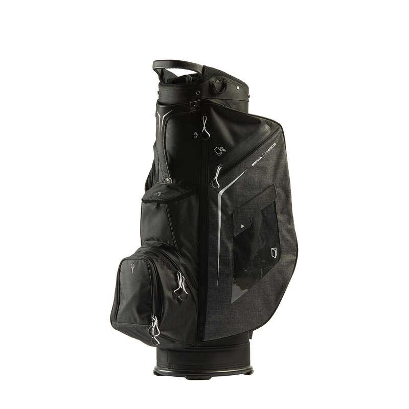 Golfbags Golf - Golf Cartbag schwarz INESIS - GPS, Taschen und Trolleys