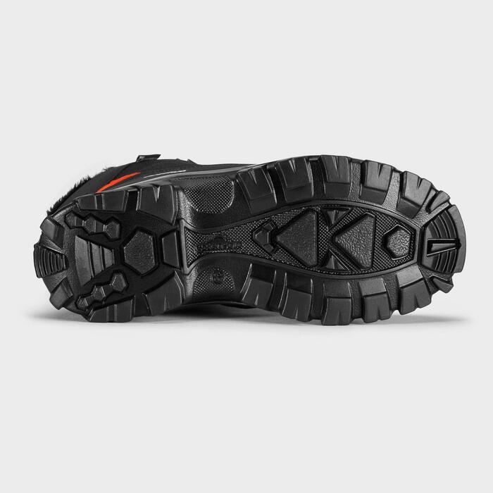 Chaussures chaudes de randonnée neige enfant SH500 warm high noir