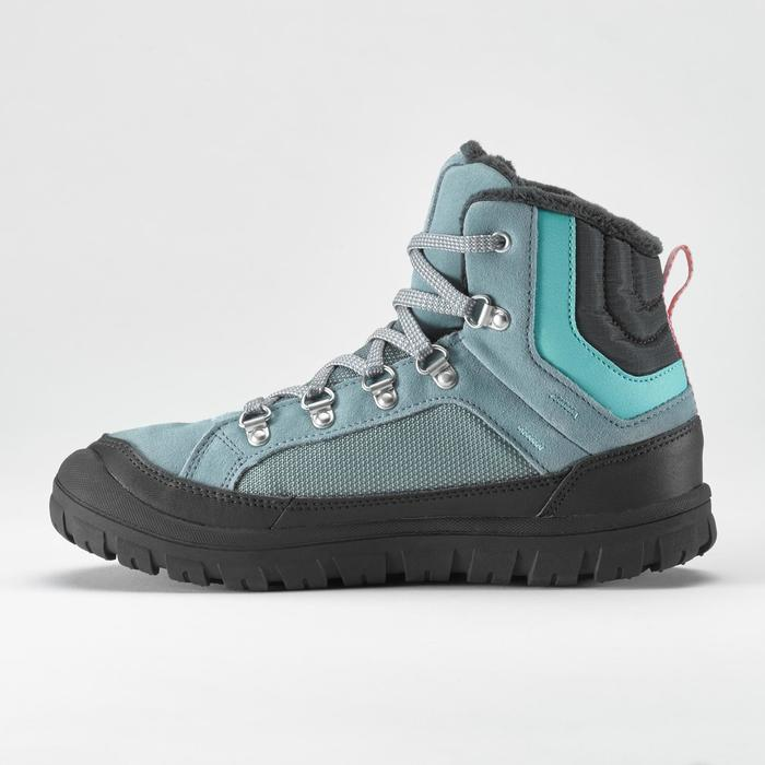 Winterschuhe Winterwandern halbhoch SH500 Warm Schnürung Kinder Gr.33-38 eisblau
