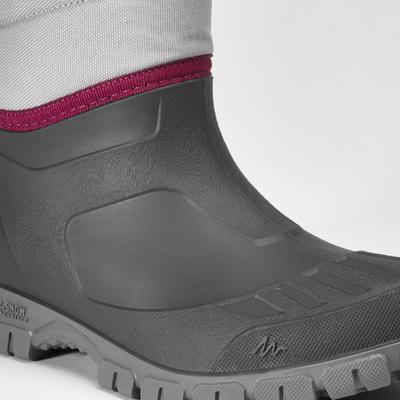 Botas de Nieve y Apreski Impermeables Mujer Quechua SH100 Warm Gris Caña Media