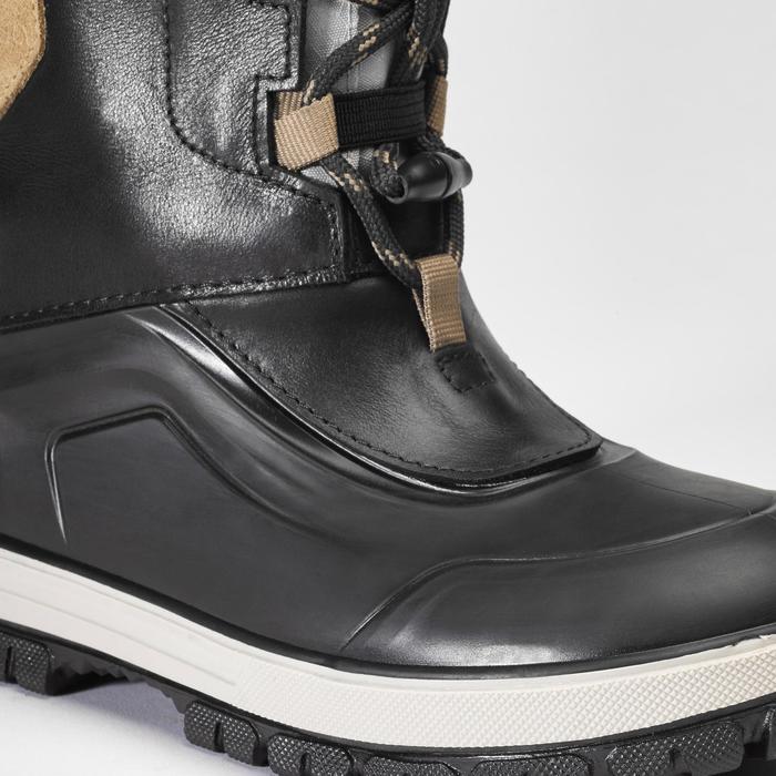 Kinder wandellaarzen voor de sneeuw SH520 X-warm zwart