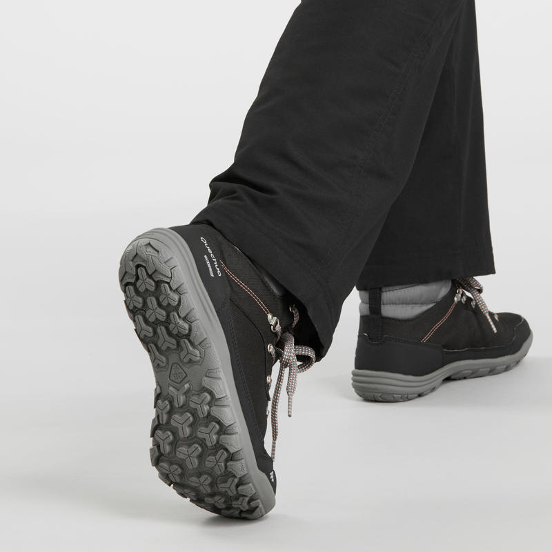 Women's Snow Hiking Shoes SH100 Warm Mid - Black