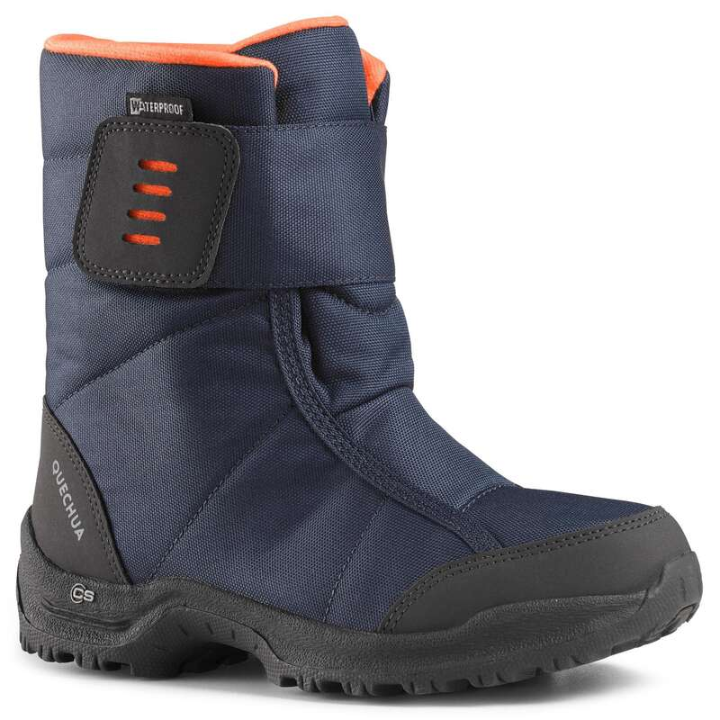 CHILDREN SNOW HIKING WARM SHOES & BOOTS Hiking - JR BOOTS SH100 X-WARM BLUE QUECHUA - Outdoor Shoes