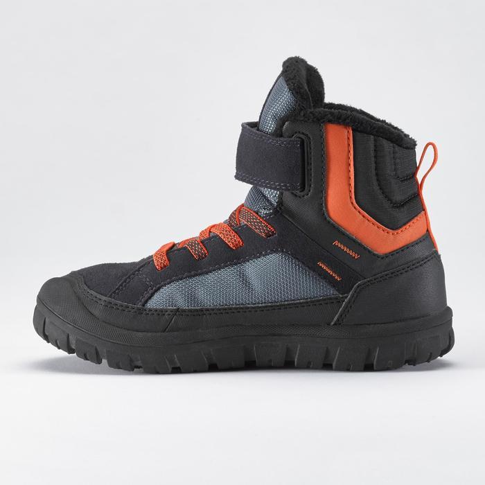 Warme wandelschoenen voor de sneeuw kinderen SH500 Warm klittenband mid blauw