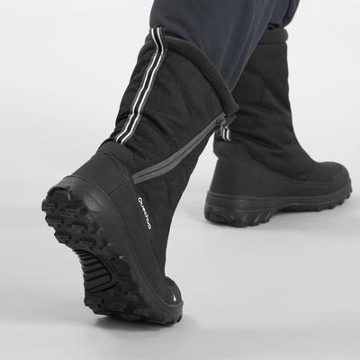 מגפיים חמים ועמידים במים לגברים דגם SH500 להליכה באזורים מושלגים - שחור