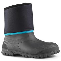 兒童款保暖雪地健行靴SH100-藍色